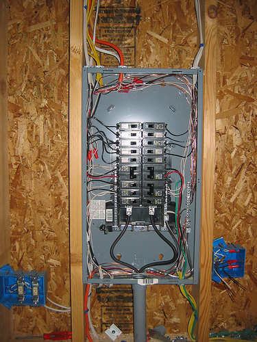 Mount wall cabinets above panel??? - The Garage Journal Board on side electrical panel, power electrical panel, brick electrical panel,